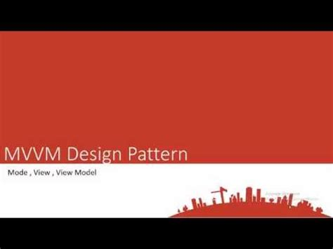 Mvvm Pattern Youtube | arabic mvvm design pattern part 1 youtube