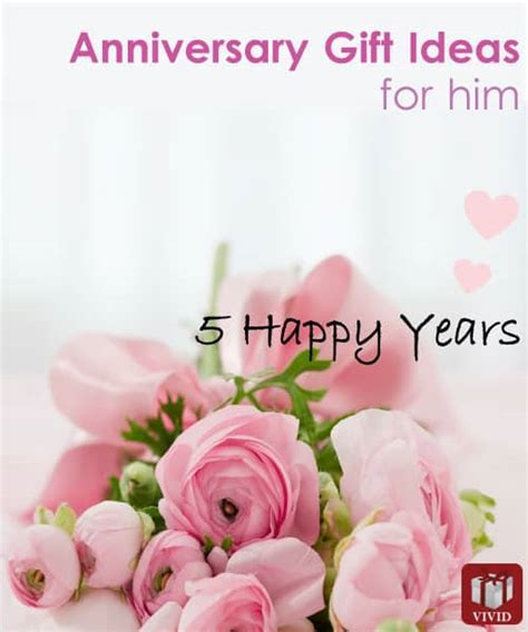 5th Wedding Anniversary Gift Ideas For Him   Vivid's