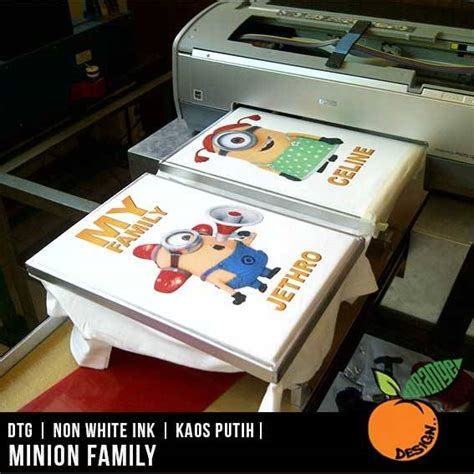 Kaos Family Minion gambar kaos printer dtg dan sablon digital