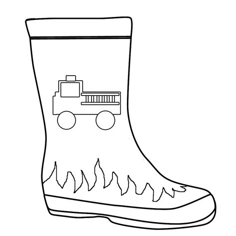 firefighter jacket coloring page boots clipart firefighter boot pencil and in color boots