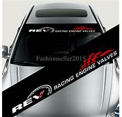 Reflective REV Car Styling Front Windshield Banner Decal