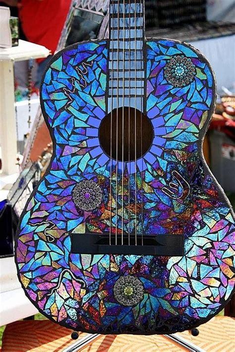 Garten Deko Mosaik by Mosaik Gitarre Als Gartendeko Nettetipps De