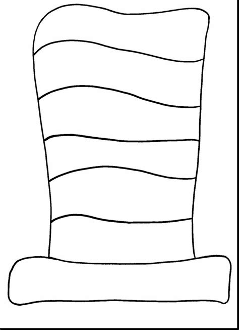 Free Cat In The Hat Coloring Sheet Dr Seuss Hat Coloring Page 4 Impressive Cat In The Printable Thing 1 Editable Template