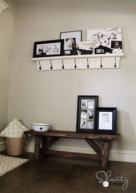 entryway bench diy entry bench coat rack plans woodworking projects plans