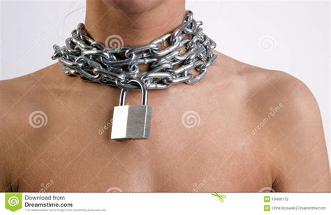 how to make neck chain with wearing metal neck chain link padlock stock
