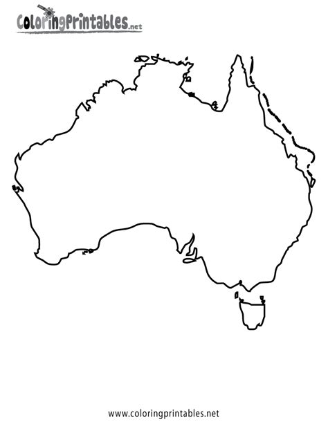 Free Coloring Pages Of Labeled Asia Map Australia Map Coloring Page
