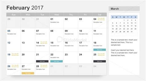 Free Project Calendar Planner 2017 Slidemodel Project Calendar Template