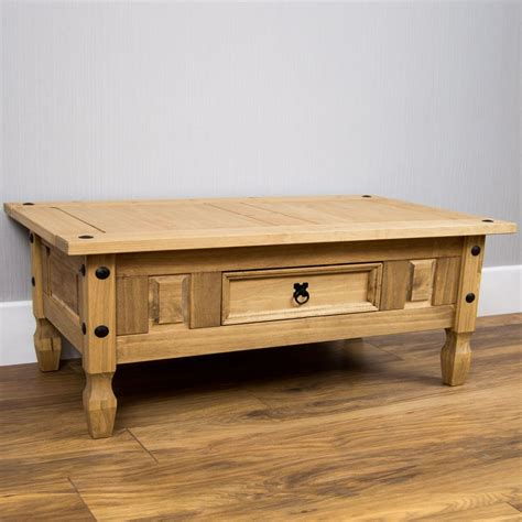 Corona Solid Pine Mexican Living Room Furniture Coffee Corona Mexican Pine Coffee Table