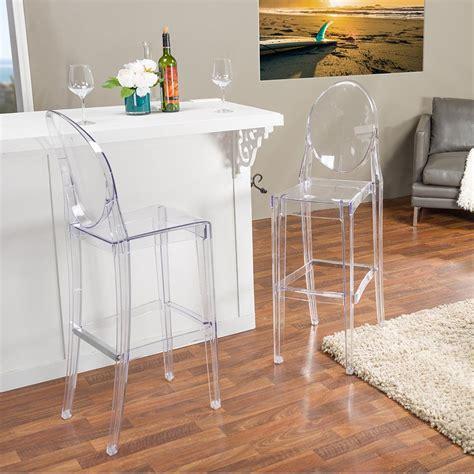 Clear Plastic Kitchen Stools baxton studio alvie clear finished plastic 2 bar