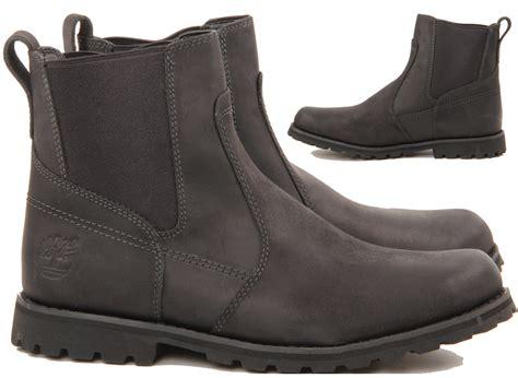 timberland slip on work boots mens timberland casual slip formal chelsea work black