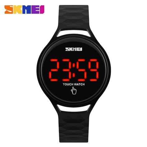 Skmei Watches Digital Led Display 30m Waterproof Skmei Watches Touch Screen Led Display Pu