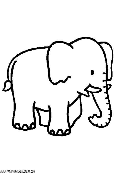 imagenes para colorear elefante un dibujo de un elefante imagui