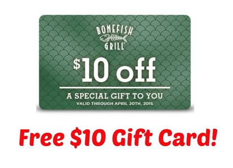 Bonefish Gift Card - free 10 bonefish grill gift card i don t have time for that