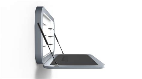 Minimalist Standing Desk by Launchpad Is A Minimalist Wall Mounted Sit Or Stand Desk