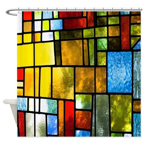 Stained Glass Shower Curtain by Stained Glass Shower Curtain By Pickyourperfectoriginals