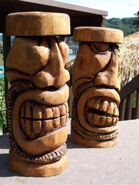 Tiki Totem Bar Stools by 1000 Images About Chainsaw Carving Ideas On