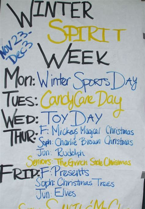 christmas spirit week dress up winter spirit week dhs