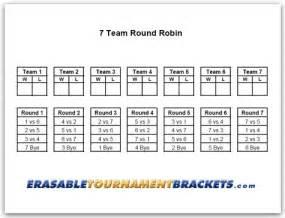 Team round robin bracket 7 team round robin tournament bracket