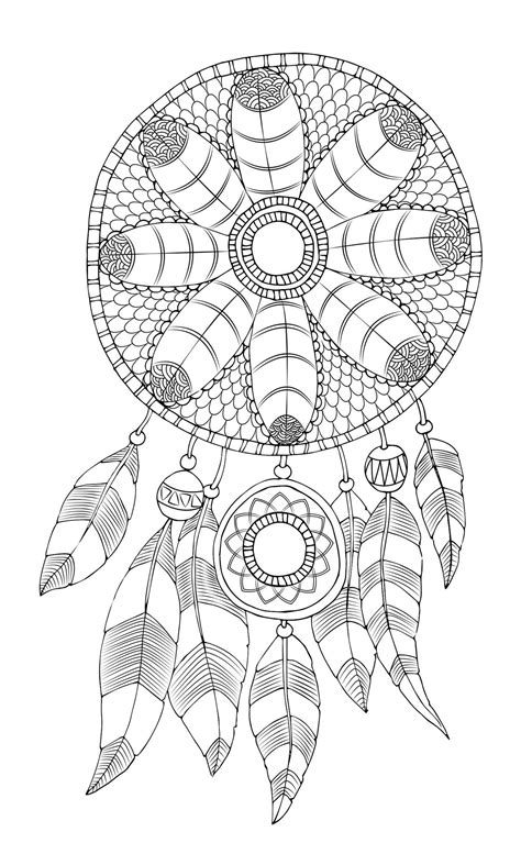 free printable coloring pages dream catchers free adult coloring page dreamcatcher dreamcatcher