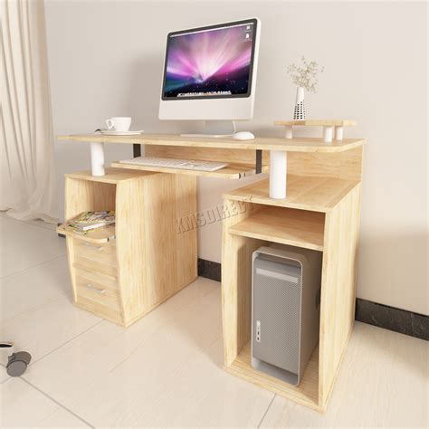 computer desk with drawers and shelves westwood computer desk pc with shelves drawers home