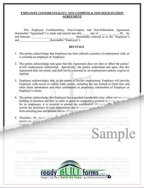 non solicitation agreement template 28 images non