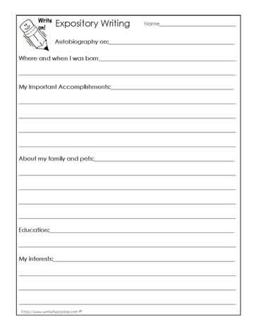 biography writing exercise autobiography worksheet teaching ideas pinterest