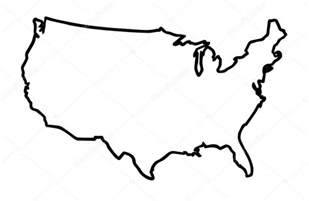 usa map outline usa broad outline map stock vector 169 bigalbaloo 123817358