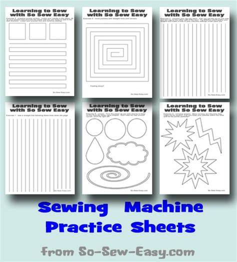 printable paper sewing practice sheets sewing machine practice sheets free sewing different