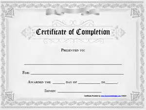 Template For Certificate Of Completion by 10 Free Certificate Of Completion Template