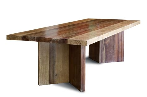 reclaimed wood dining table   large planks