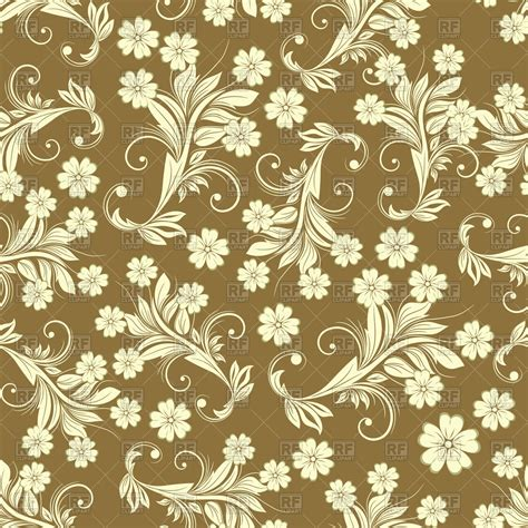 seamless floral pattern background vector graphic seamless brown vintage floral pattern royalty free vector