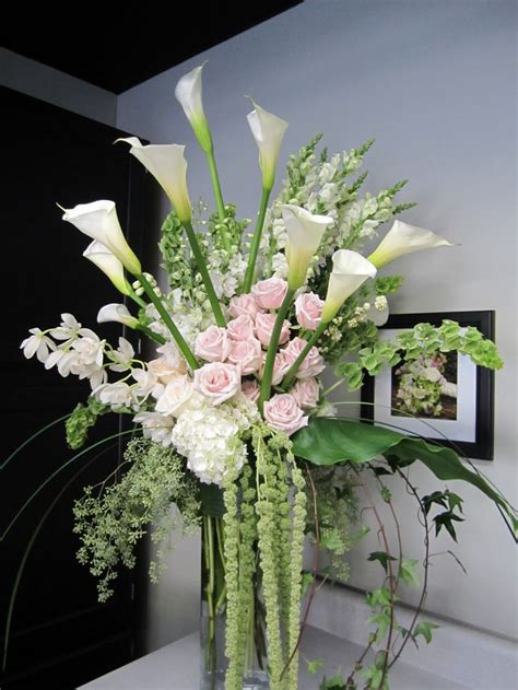 Flowers For Vase Arrangements by Flower Arranging In A 12 Quot Vase Cylinder Vases The Overall Height Was About 5