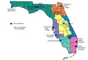 florida colleges map project