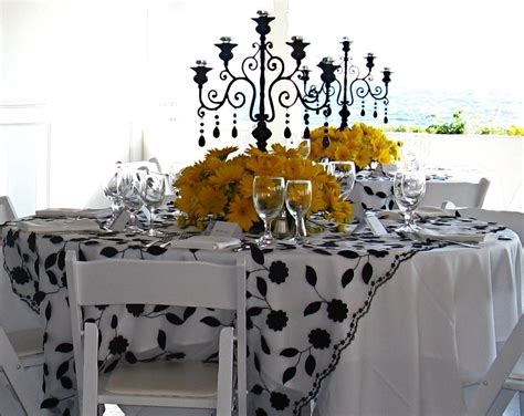 yushans blog black white  yellow wedding