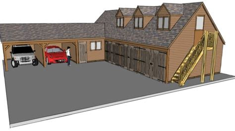 L Shaped Garage Plans Smalltowndjs Com