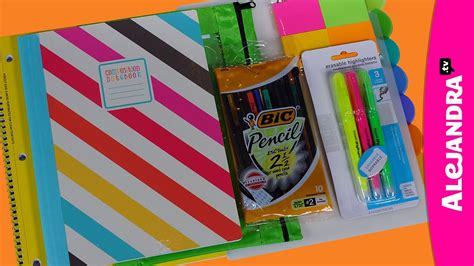 Organize With Alejandra back to school supplies haul 2013 14 shopping at walmart