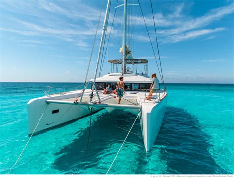 catamaran charter with captain croatia freedom luxury charter sailing catamaran guests bow