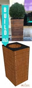 Building A Wood Planter by Remodelaholic Vive La Build A Wooden Planter