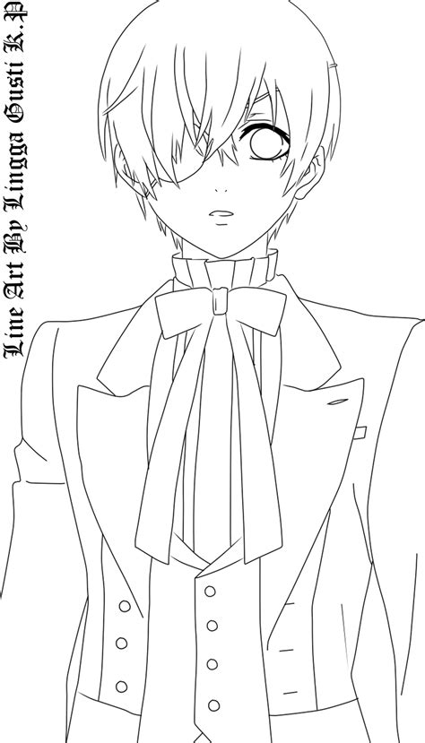 theme line black butler ciel phantomhive lineart by takito37 on deviantart