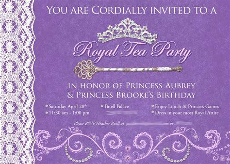 princess tea invitation template free princess tea birthday invitations best ideas