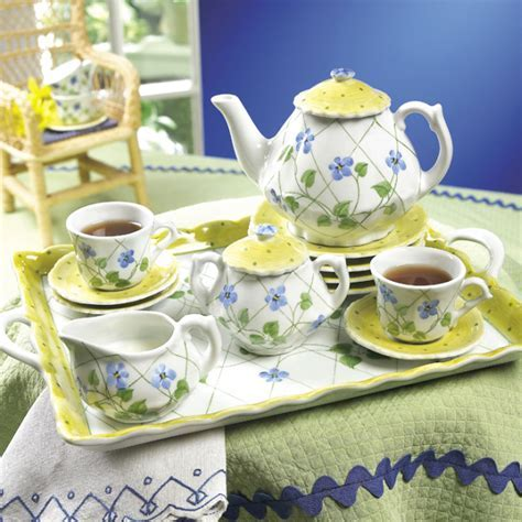 Periwinkle Garden Children?s Tea Set ? The Teapot Shoppe, Inc.