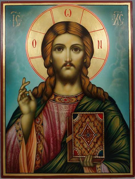 orthodox st pantocrator painted icon blessedmart