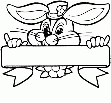 blank bunny coloring page easter bunny template printable