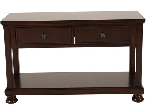 furniture sofa table two drawer traditional sofa table in brown cherry mathis