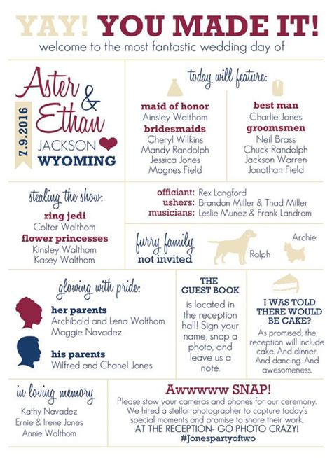 25 Best Ideas About Wedding Programs On Pinterest Ceremony Programs Fun Wedding Programs And Wedding Infographic Template