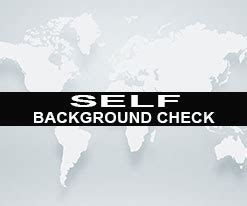 Self Background Check Self Background Check