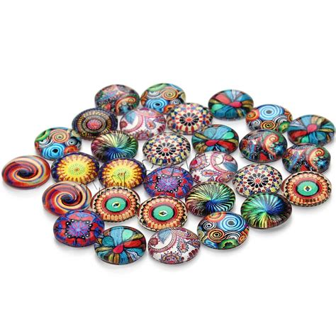glass cabochons jewelry glass cabochons flat time gem jewelry mixed