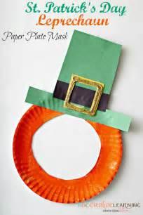 leprechaun mask template st s day leprechaun paper plate mask