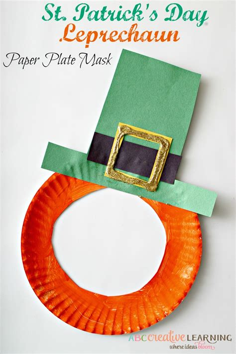 printable leprechaun mask st patrick s day leprechaun paper plate mask
