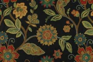 black green modern floral upholstery fabric
